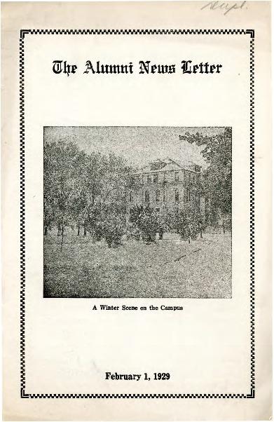 Morningsider: New Series, Number 140 (1929-02)