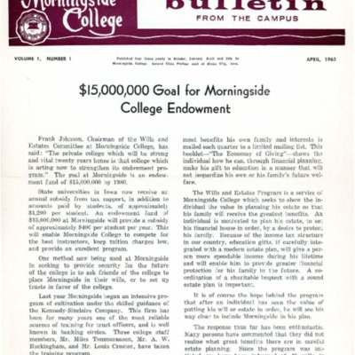 Morningside College From The Campus (1963-04)