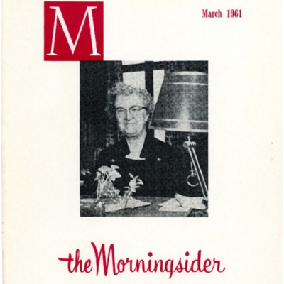 Morningsider: Volume 19, Number 03 (1961-03)