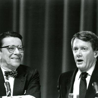 Paul Simon and Bruce Babbitt at 1988 Presidential Debate
