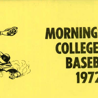 Morningside College Baseball 1972