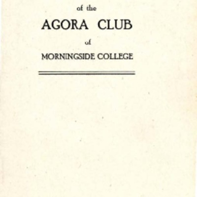 Agora Club Constitution
