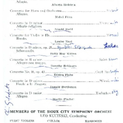 Morningside Conservatory of Music Concert: Concertos with Orchestral Accompaniment, May 21, 1937