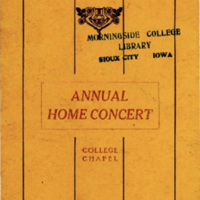 Morningside College Madrigal Club, Annual Home Concert, May 5, 1919