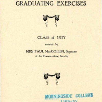 Morningside Conservatory of Music Graduating Exercises, June 11, 1917