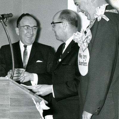 Hickman, Palmer, and Jacobson at PAA Kickoff Dinner 1966