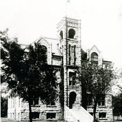 Front of Conservatory of Music, ca. 1900