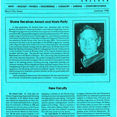 Alumni Newsletter Science Division
