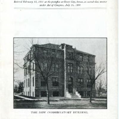 Morningside College Bulletin Number 28 (1915-12-01)