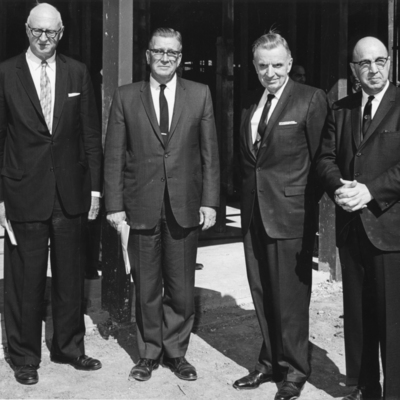 Dr. Palmer Standing with Laucks, Jensen, and Christian in 1965 01-02