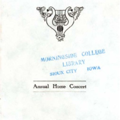 Morningside College Madrigal Club, Annual Home Concert, May 7, 1920