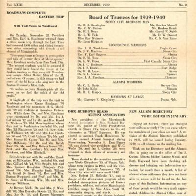 Morningsider: Volume 23, Number 02 (1939-12)