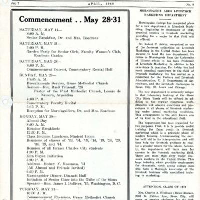 Morningsider: Volume 7, Number 08 (1949-04)