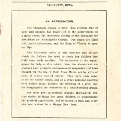 Morningside College Bulletin Number 59 (1919-12-01)