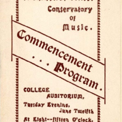 Morningside Conservatory of Music Commencement Program, June 12, 1906