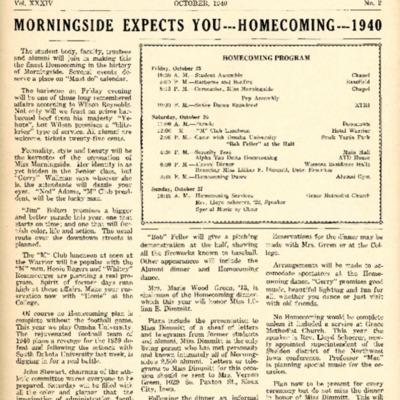 Morningside College Bulletin: Volume 34, Number 02 (1940-10)