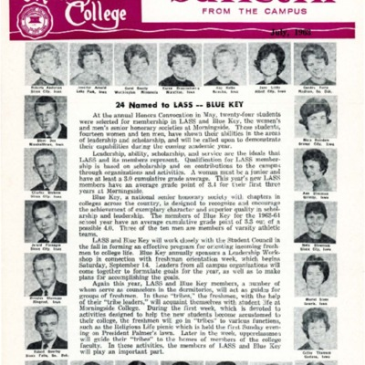 Morningside College Bulletin From The Campus: Volume 01, Number 02 (1963-07)