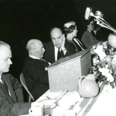 President Palmer with Colleagues at Banquet