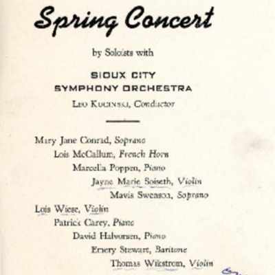 Morningside Conservatory of Music Spring Concert, May 23, 1946
