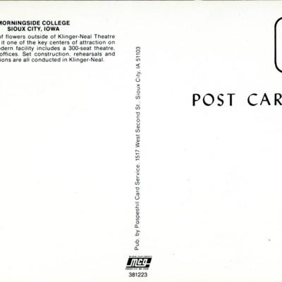 Klinger-Neal Postcard Backside