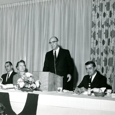 President Palmer Speaking at Banquet 1963