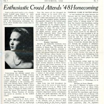 Morningsider: Volume 7, Number 03 (1948-11)