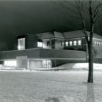 Hickman-Johnson-Furrow Library in Winter