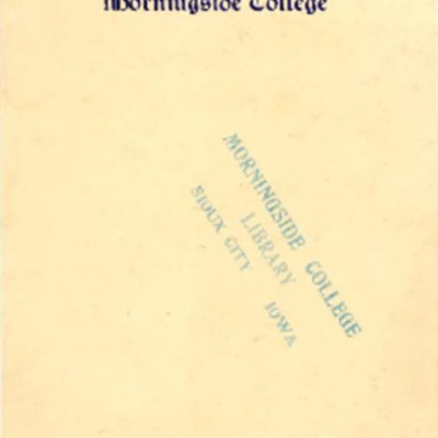 Madrigal Club, Morningside College, Annual Home Concert, May 15, 1916