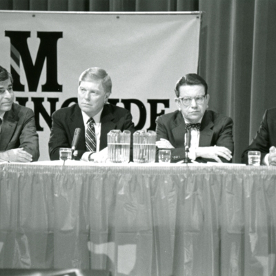 Greater Sioux City Press Club Presidential Debate, Series of 7 Photos, 2 of 7