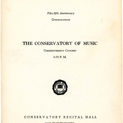 Morningside College Fifty-Fifth Anniversary Commencement Concert, Morningside Conservatory of Music, May 28, 1949