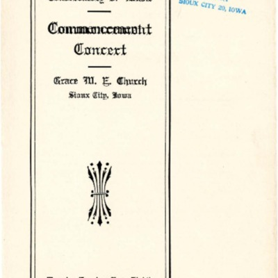 Morningside Conservatory of Music Commencement Concert, June 8, 1909
