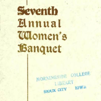 Agora Club Seventh Women's Banquet Program