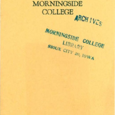 Madrigal Club, Morningside College, Annual Home Concert, May 1, 1924